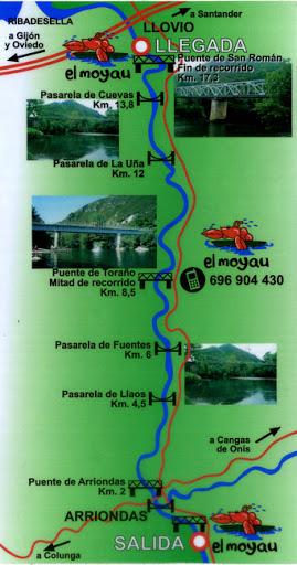 recorrido del rio sella