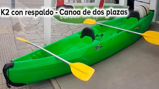 Elige canoa en El Moyau
