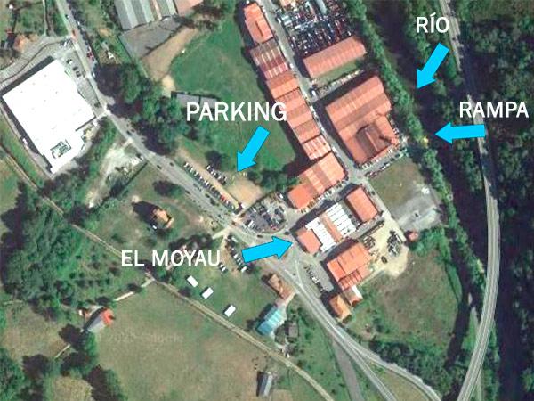 Parking privado gratuito clientes El Moyau