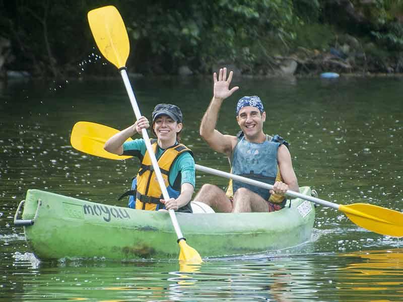 En Arriondas tiene lugar el descenso del Sella en canoa