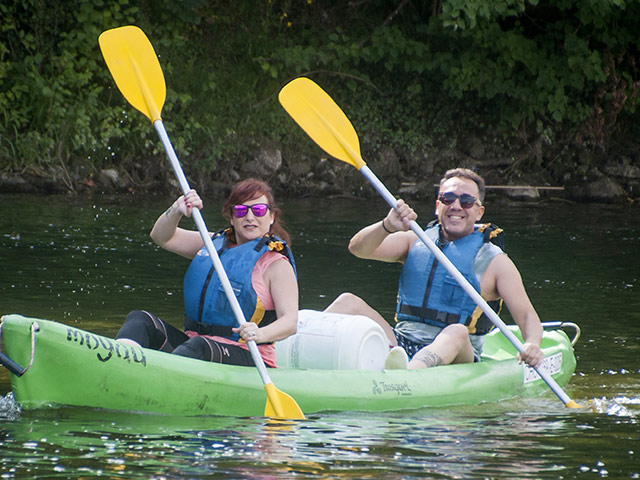 descenso del sella en canoa en Arriondas