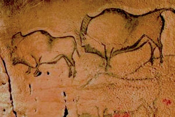 Pinturas rupestres en la Cueva de la Covaciella en Cabrales