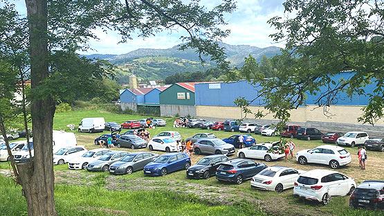 Parking privado descenso del Sella
